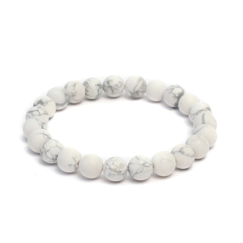 Plain 10mm Beaded Bracelet in Matte Finish