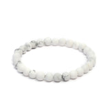 Plain 8mm Beaded Bracelet in Matte Finish