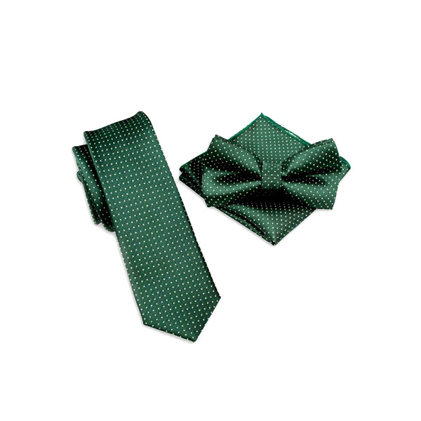 Pin Dot Suit Accessory Set, Olive Green