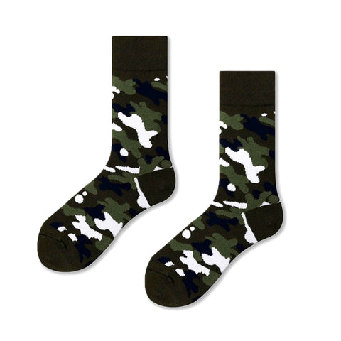 Camo Pattern Socks, Green