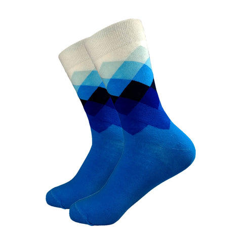 Multi-Colored Chequered Socks