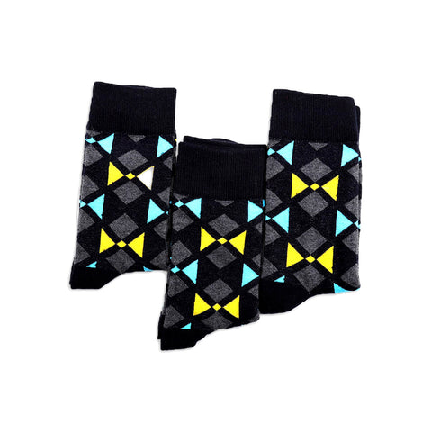 Aztec Inspired Pattern Socks, Black