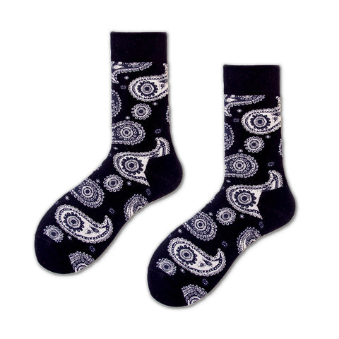 Ceremony Paisley Pattern Socks, Black