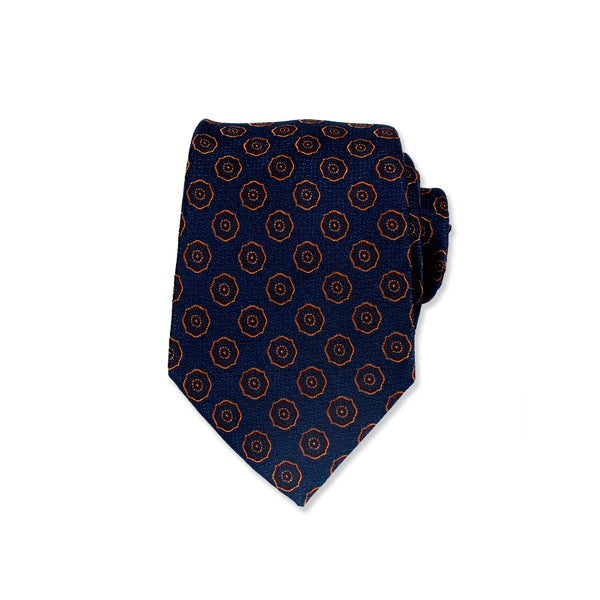Fashionable Polka Dot Silk Tie, Deep Blue