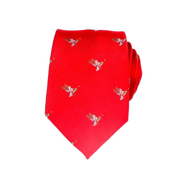 Bird Novelty Silk Tie, Red