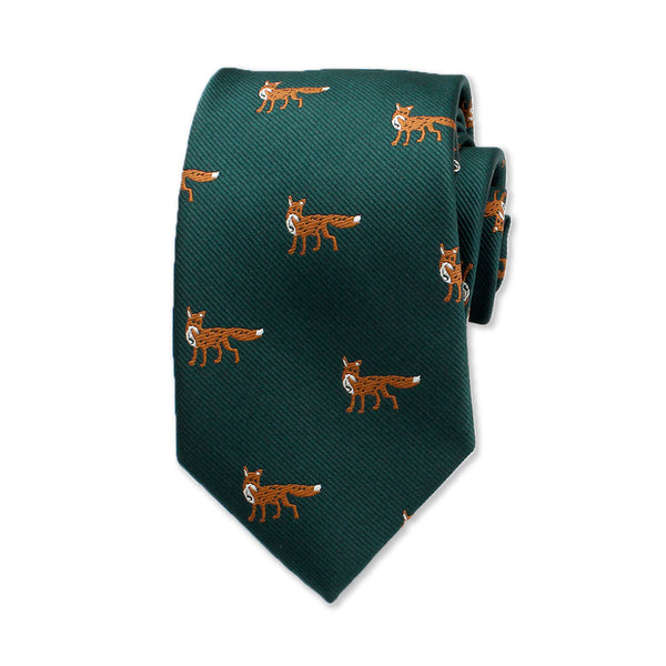 Wolf Novelty Tie, Dark Green