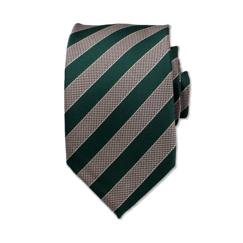 Two Tone Striped Neck Tie, Green