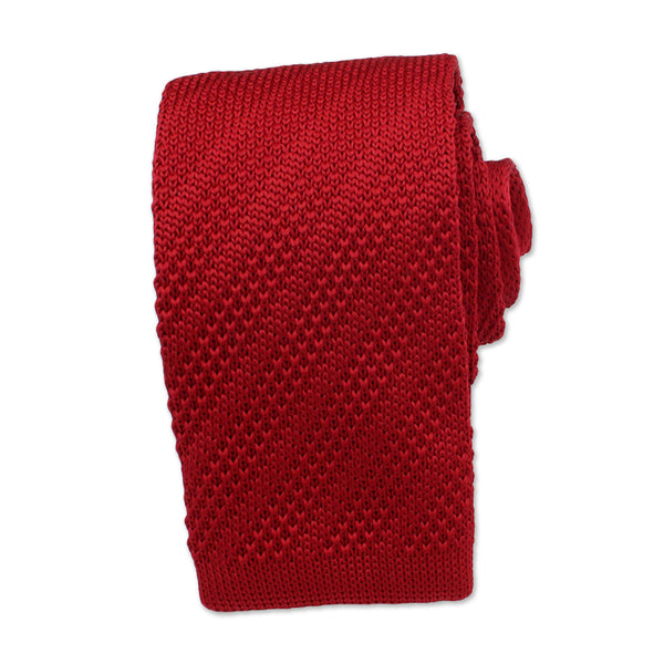 Knitted Neck Tie, Red