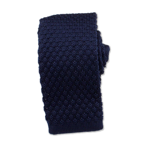 Knitted Neck Tie, Navy