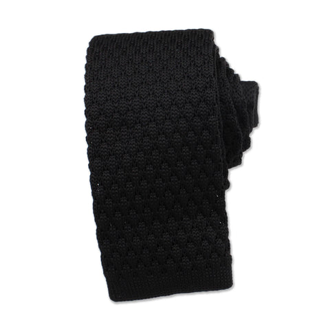 Knitted Neck Tie, Black