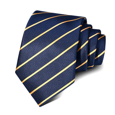 Two Tone Striped Neck Tie, Navy