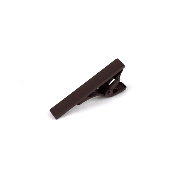 Matte Finish Solid Tie Bar, Dark Brown
