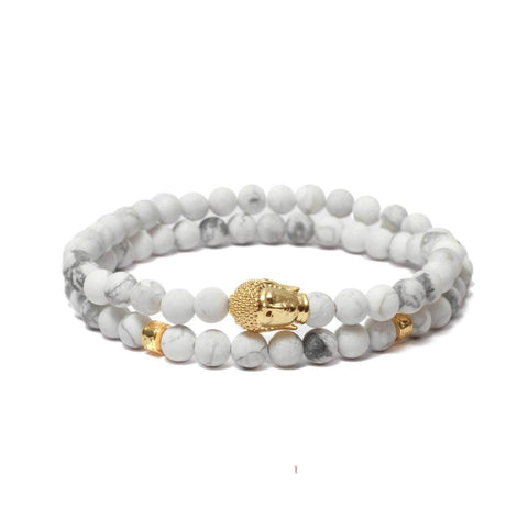 Buddha Double Wrap Bracelet in Gold Plating