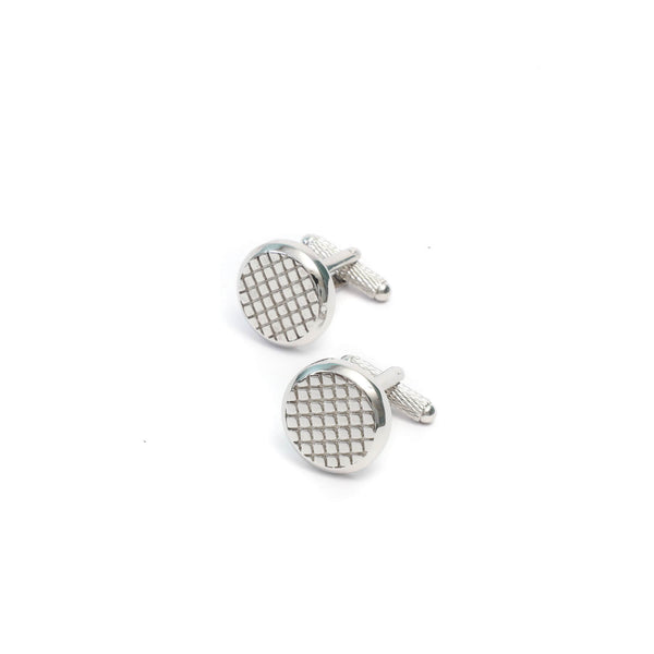 Cross Pattern Cufflink Set