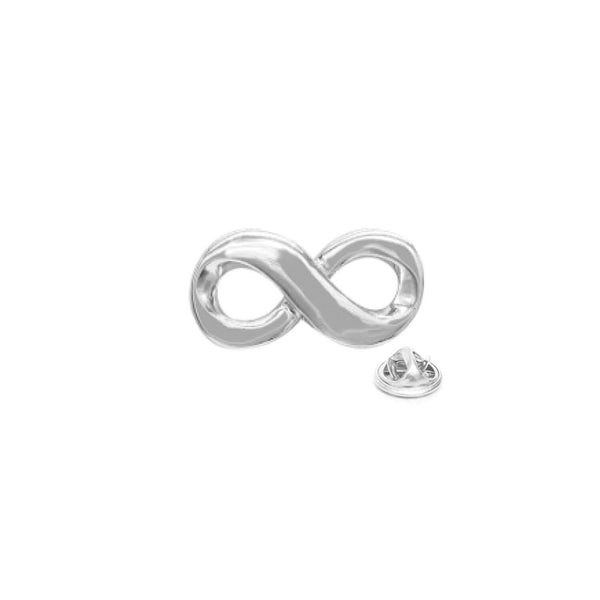 Infinity Lapel Pin with Butterfly Pin