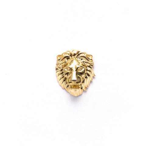 Poised Royal Lion Head Lapel Pin