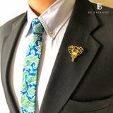 Geo Facet Elephant Head Lapel Pin
