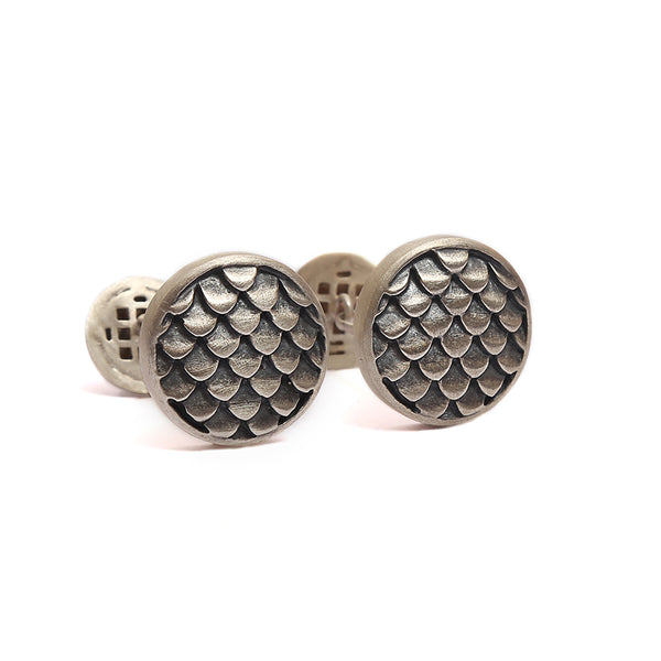 Scales of fire Cufflink Set