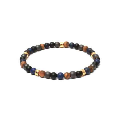 Tribal Stopper Bracelet in Multi Gemstone Beads