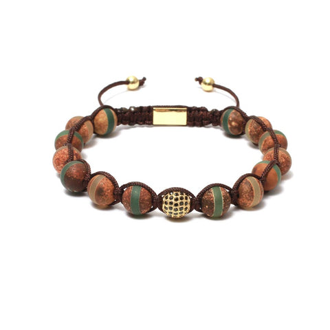 The Urban Pod Macrame Bracelet in Tibetan Agate Gemstones