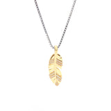 Free Spirit Feather Pendant With Box Chain