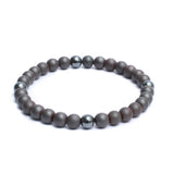 Beaded Link Bracelets in 8mm Hematite Gemstone Beads