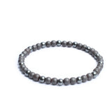 6mm Two Tone Link Bracelet with Hematite Gemstones