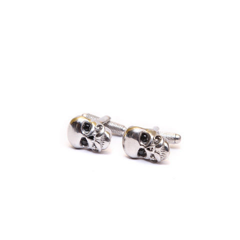 Celtic Skull with Mustache Cufflink Set