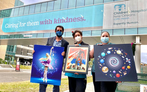 ARtscapes Donates 50 Prints to the Children's Hospital New Orleans as part of their