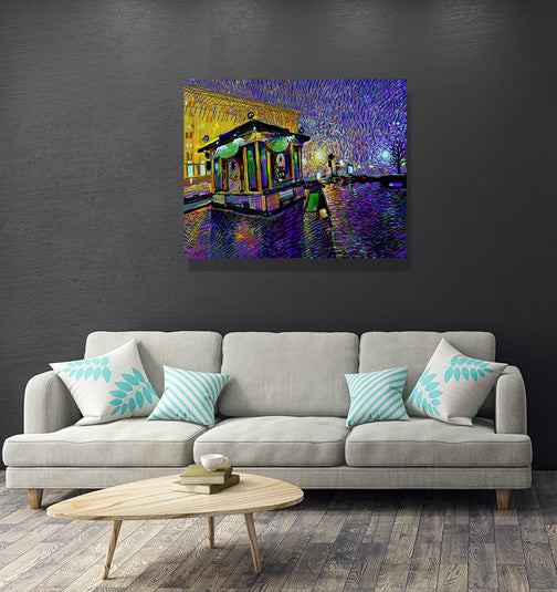 "Fresh City Nights - W 30"" x 24"" / Frameless ARtscapes-AR - ARtscapes"