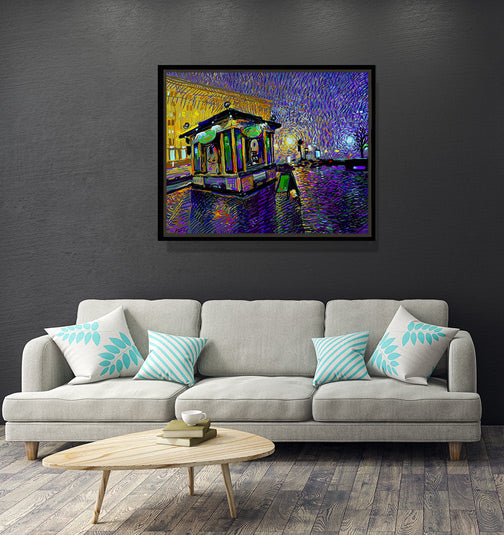 "Fresh City Nights - W 30"" x 24"" / Slate Black ARtscapes-AR - ARtscapes"