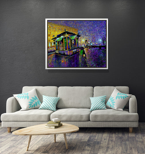 "Fresh City Nights - W 30"" x 24"" / Snow White ARtscapes-AR - ARtscapes"
