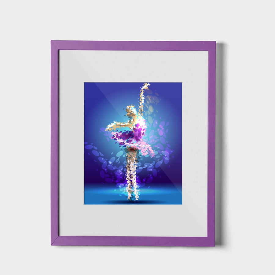 Tiny Dancer - W (Art Prints) Print ARtscapes-AR - ARtscapes