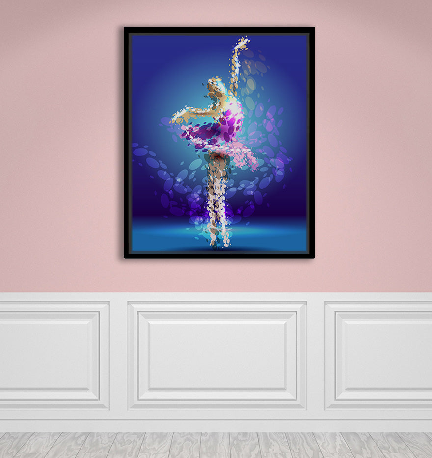 "Tiny Dancer - W 24"" x 30"" / Slate Black ARtscapes-AR - ARtscapes"
