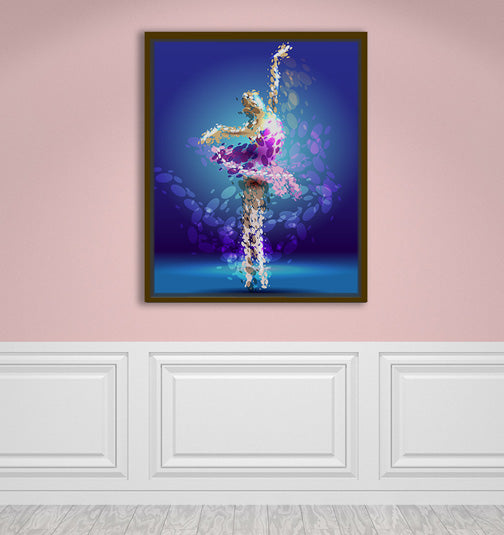 "Tiny Dancer - W 24"" x 30"" / Natural Wood ARtscapes-AR - ARtscapes"