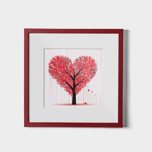 Tree of Hearts - W (Art Prints) Print Standard ARtscapes-AR - ARtscapes