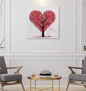 "Heart Tree - W 24"" x 24"" / Frameless ARtscapes-AR - ARtscapes"