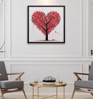"Heart Tree - W 24"" x 24"" / Slate Black ARtscapes-AR - ARtscapes"