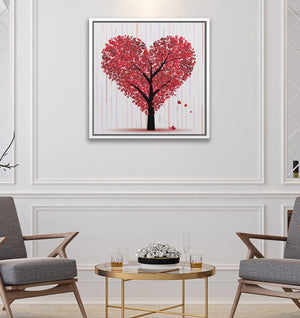 "Heart Tree - W 24"" x 24"" / Snow White ARtscapes-AR - ARtscapes"