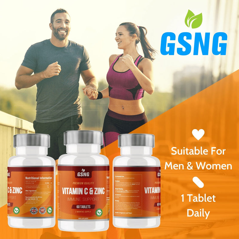 Vitamin C & Zinc Tablets - Get Slim No Gym