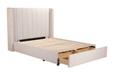grace fabric bed frame draws