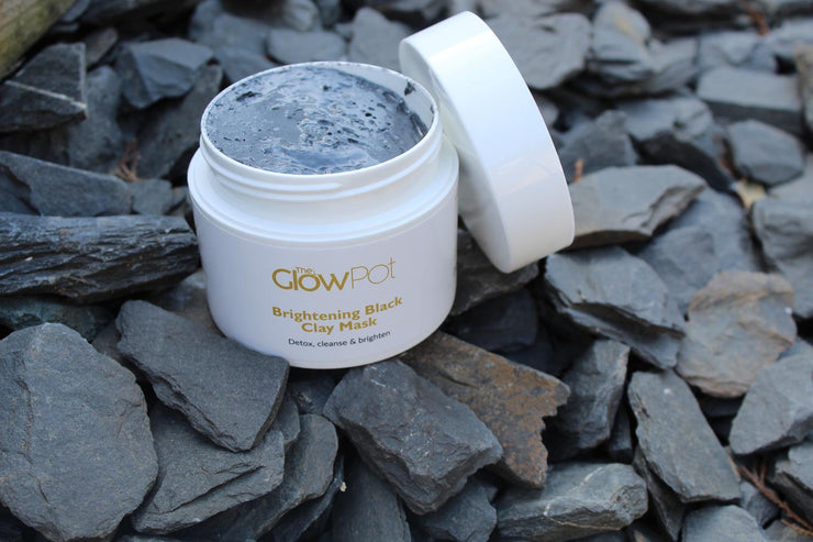 Brightening Black Clay Mask, Face Mask - The Glow Pot