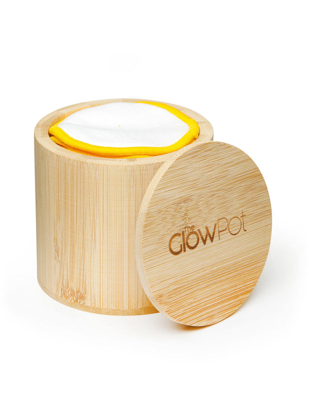Reusable Cotton Pads and Bamboo Jar, Cotton Pads - The Glow Pot