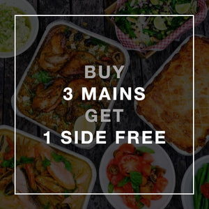 3 Mains - 1 Side Free