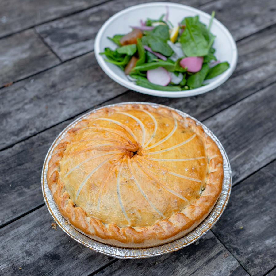 Chicken, Fennel and Spinach Pie