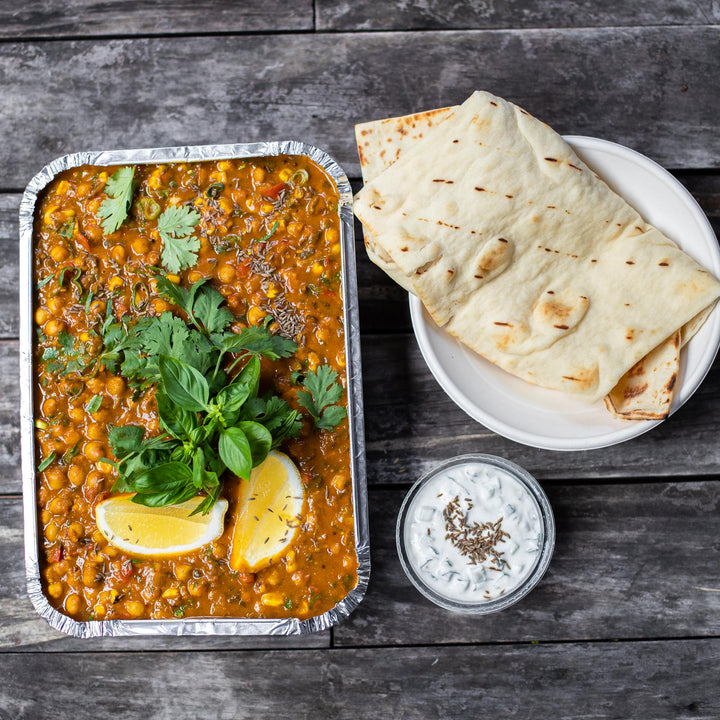 Eggplant, Capsicum and Chickpea Dahl
