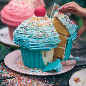 Giant Blue Cupcake