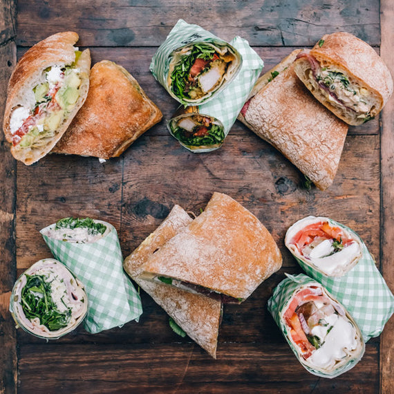 The Grounds Catering Assortment of Mixed Sandwiches & Wraps
