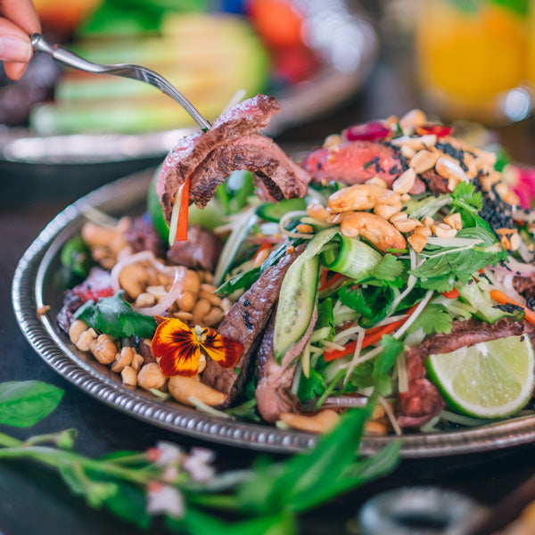 The Grounds Catering Thai Beef Salad - Presented Packaging Option