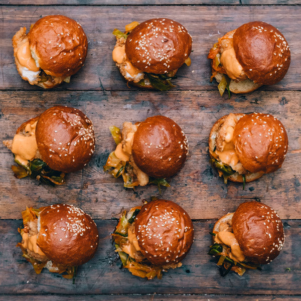 The Grounds Catering Fried Chicken Sliders